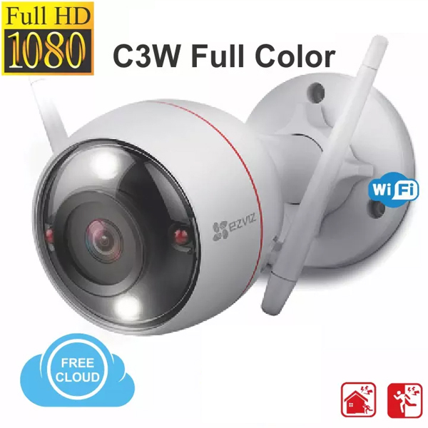 2.0Mpx - 1080P / IP-Wifi Outdoor Camera EZVIZ C3W (Full Color / Include Arlam LED, Mic, Speaker)