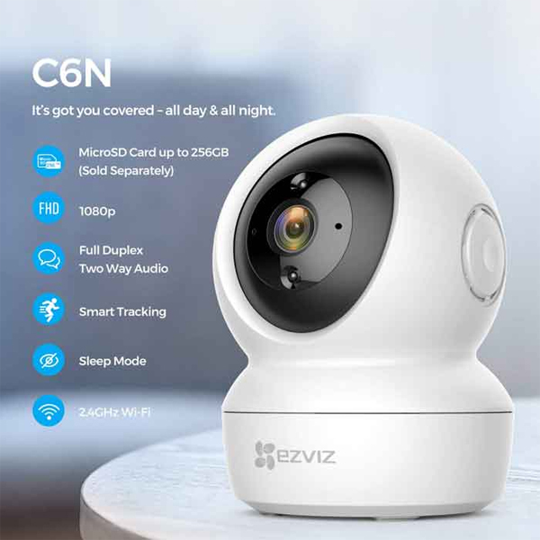 2.0Mpx - 1080P / IP-Wifi Pan/Tilt Camera EZVIZ C6N