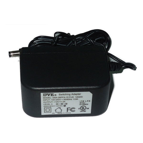 Adapter 12V-2A ##5.5x2.5 DVE/Actiontec for Camera