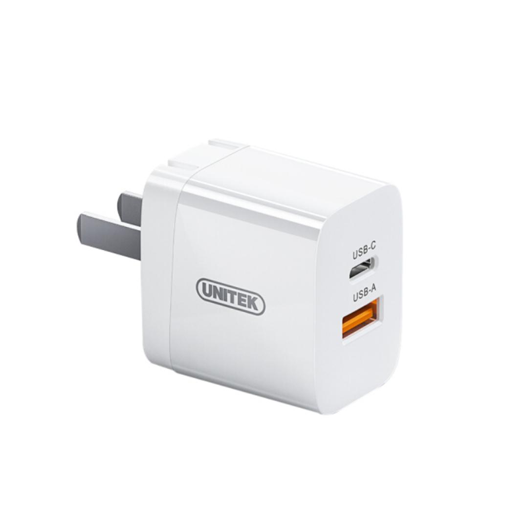 Adapter 20W - 2 Plug (QC3.0 PD) Unitek P110A