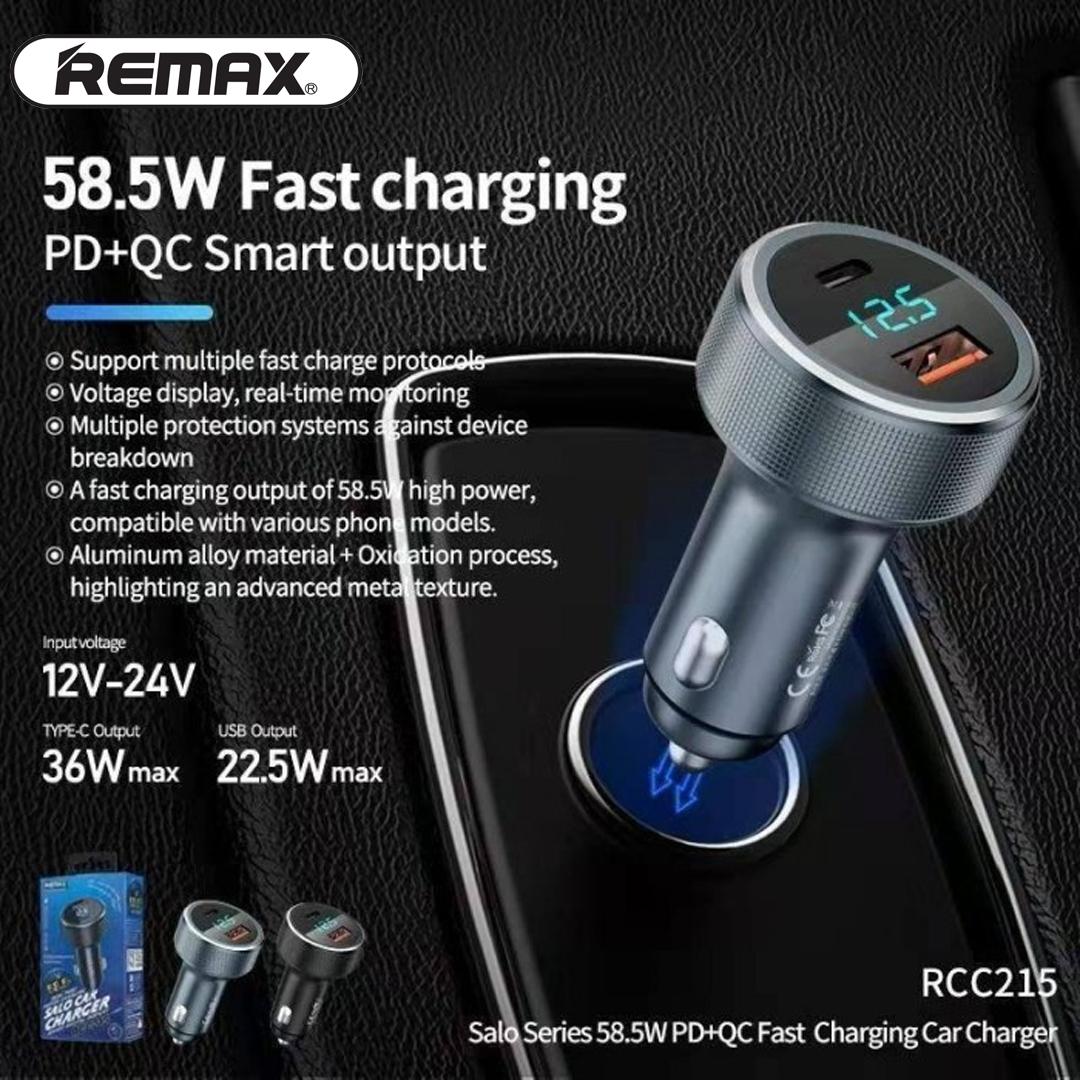 Adapter Car 1PD / 1USB QC Plug REMAX RCC215