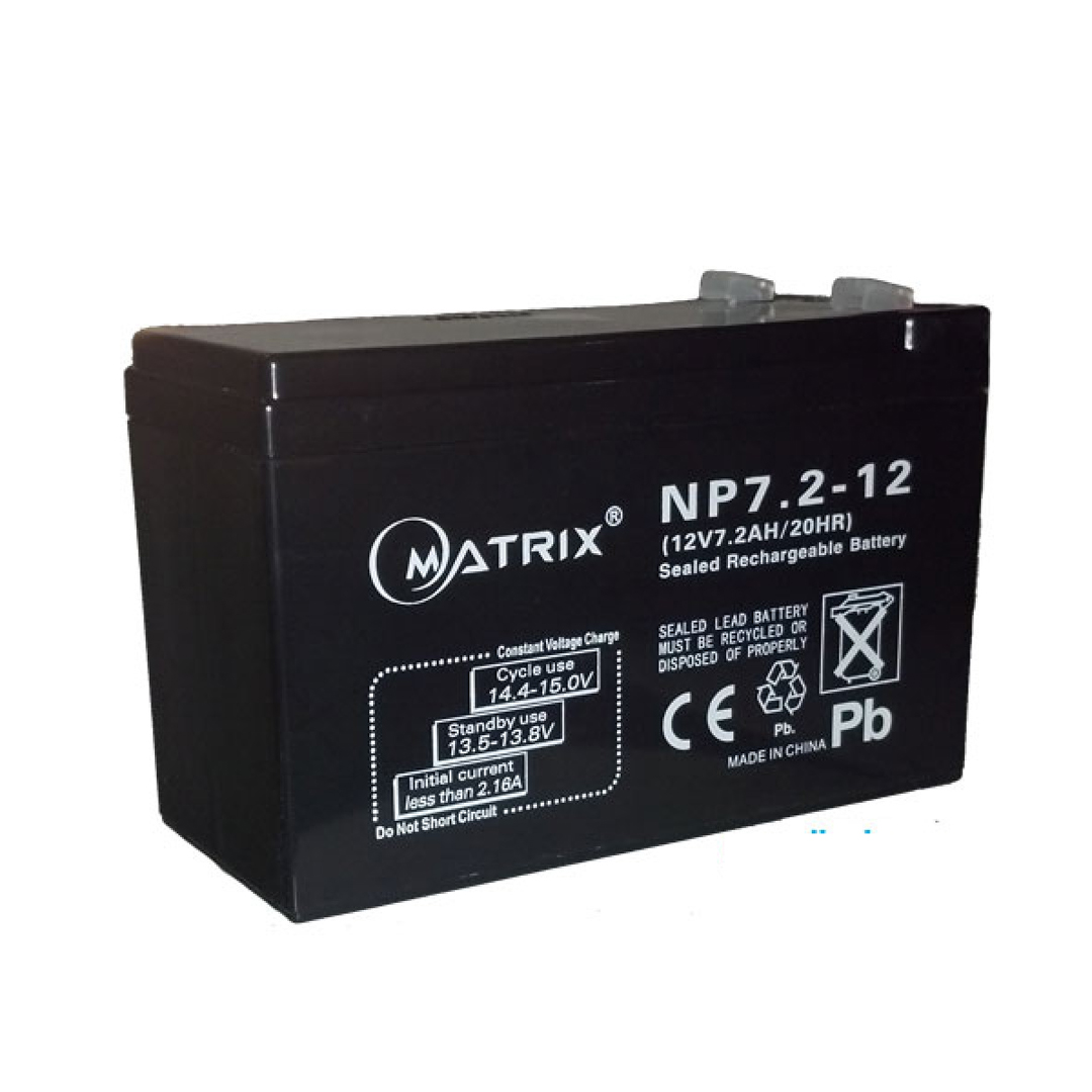 Battery for UPS 7.2Ah/12V (6.5x15x9.5cm)