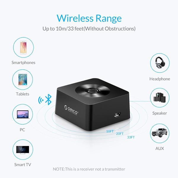 Bluetooth Sound Receiver ORICO BTS01-BK