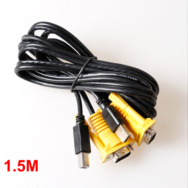 Cable KVM (VGA/USB) 1.5M MT-VIKI