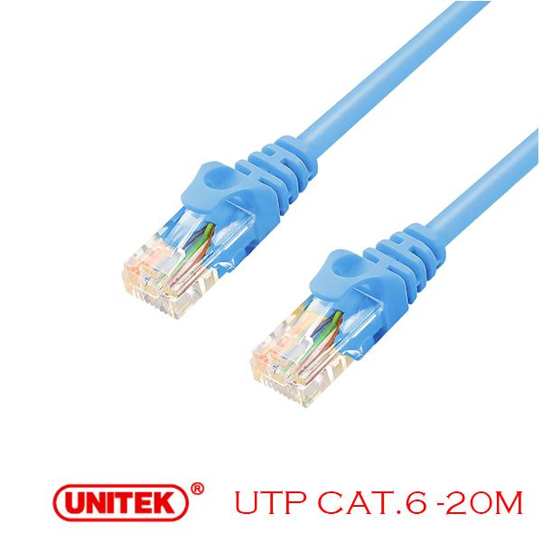 Cable LAN UTP Cat6 20M Unitek Y-C815ABL