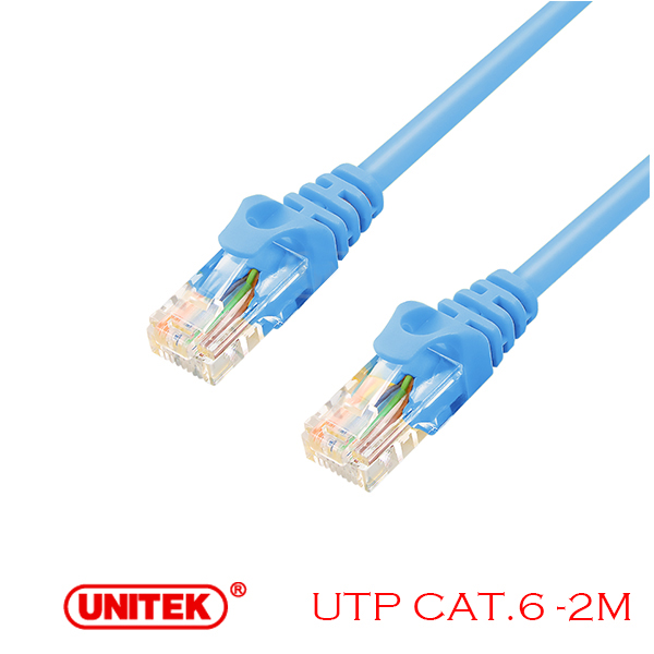 Cable LAN UTP Cat6 2M Unitek Y-C810ABL