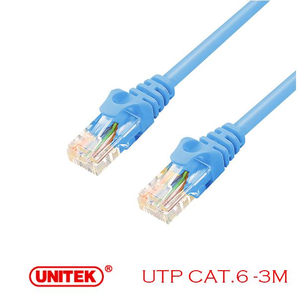 Cable LAN UTP Cat6 3M Unitek Y-C811ABL