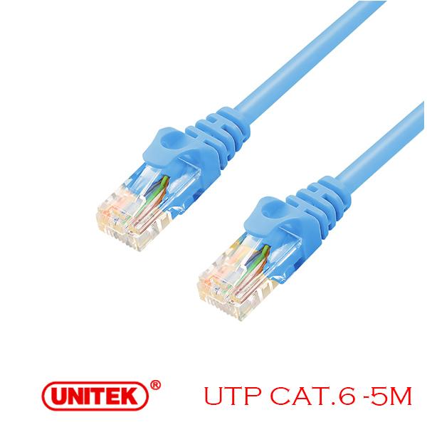 Cable LAN UTP Cat6 5M Unitek Y-C812ABL