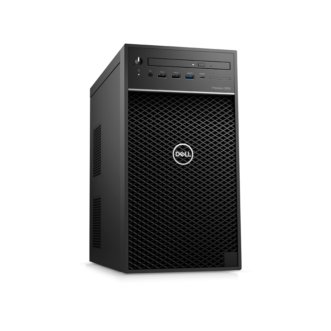 Case DELL Precision 3650 (Tower Workstation) Intel Core i7-10700 2.9Ghz Tubor 4.8Ghz 8cores-16threads RAM DDR4 32Gb M.2 NVME 500Gb HDD1000Gb KB-Mouse Wifi No Monitor