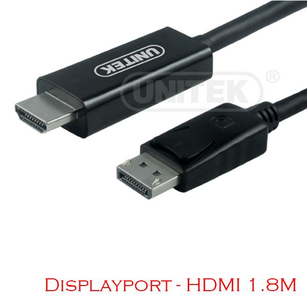 Displayport to HDMI Cable 1.8M Unitek Y-5118CA