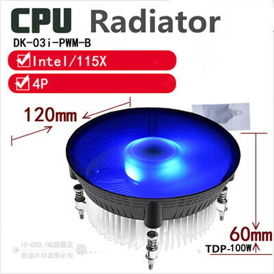 FAN CPU LGA 115x ID-COOLING DK-03i-PWM-B / LED Blue
