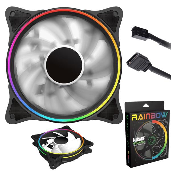 FAN Case Rainbow / 12cm GameMax FN-12RAINBOW-N
