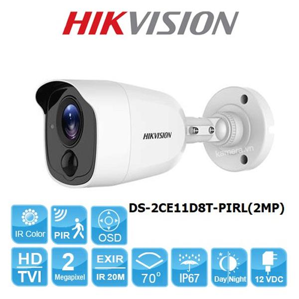 HDTVI 2.0Mpx - 1080P / Bullet Alarm Camera HIKVISION DS-2CE11D8T-PIRL