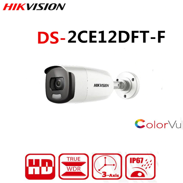 HDTVI 2.0Mpx - 1080P / ColorVu Camera HIKVISION DS-2CE12DFT-F