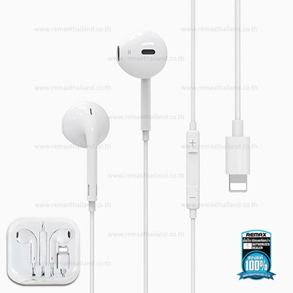 Headphone Bluetooth/Lightning In-ear Stereo REMAX RW-L03