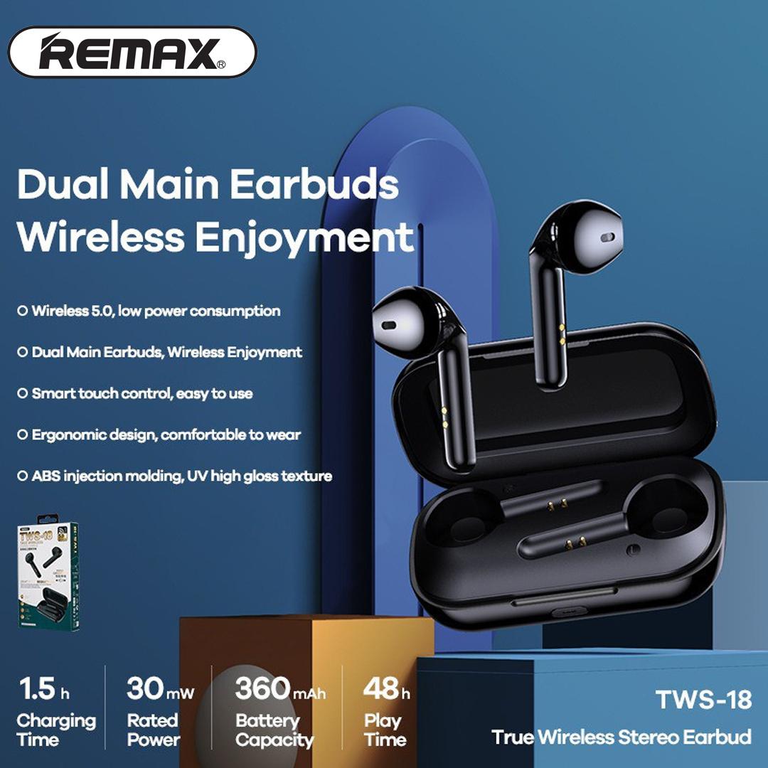Headphone True WIreless Stereo REMAX TWS-18