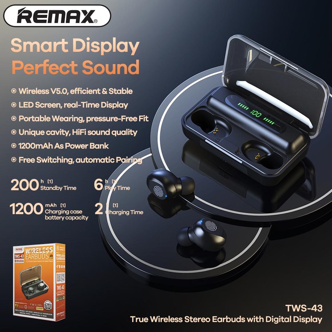 Headphone True WIreless Stereo REMAX TWS-43