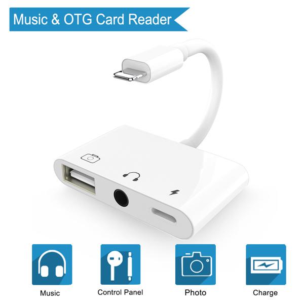 Hub Lightning to Sound(Speaker) / USB 2.0 / Charger
