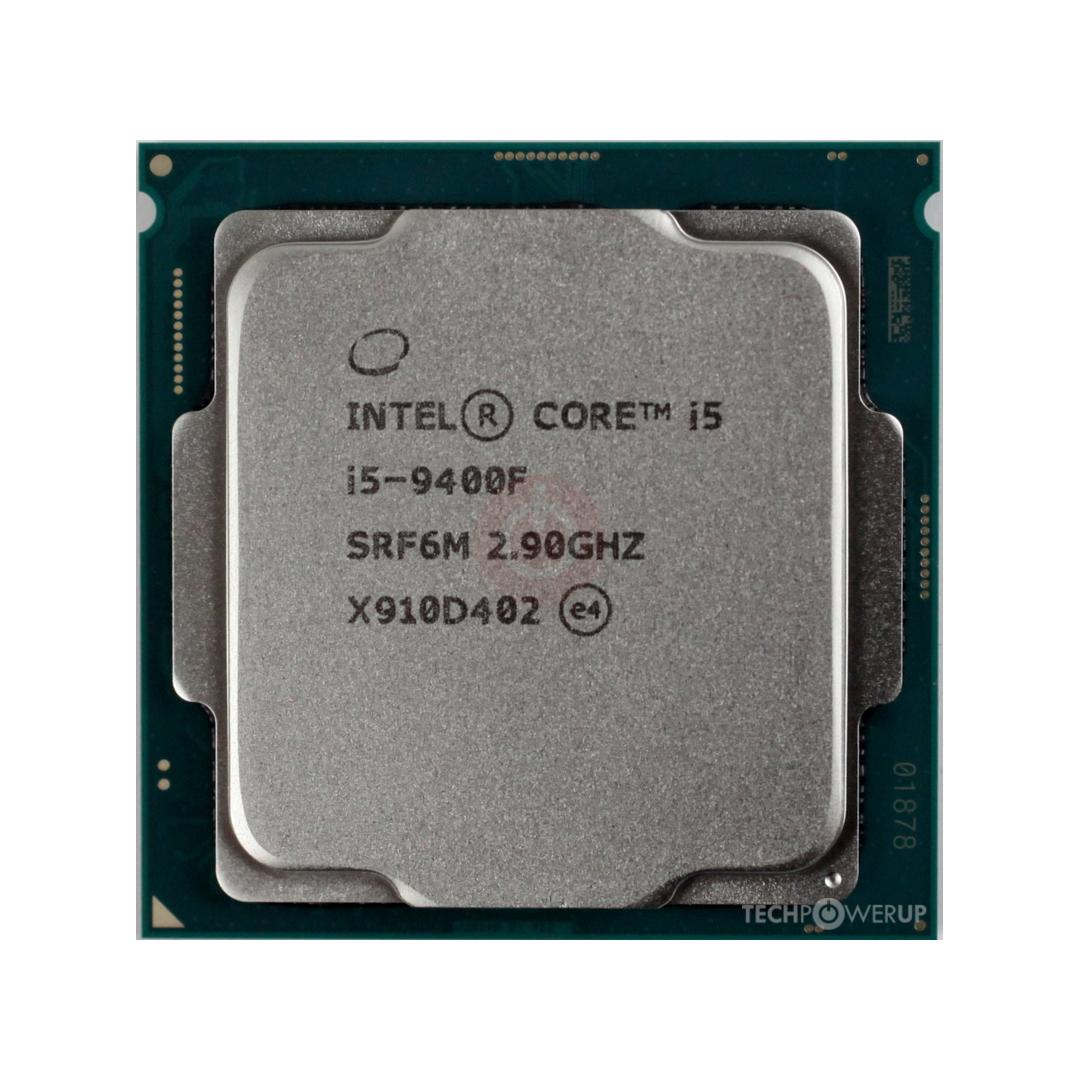 Intel® Core™ i5-9400F 2.9Ghz(Tubor 4.1Ghz) / 6 cores - 6 threads / LGA1151v2 / 9th-Gen (TRAY)
