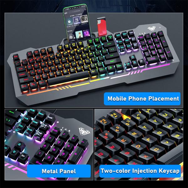 Keyboard USB Gaming/LED AULA F3010 / EN