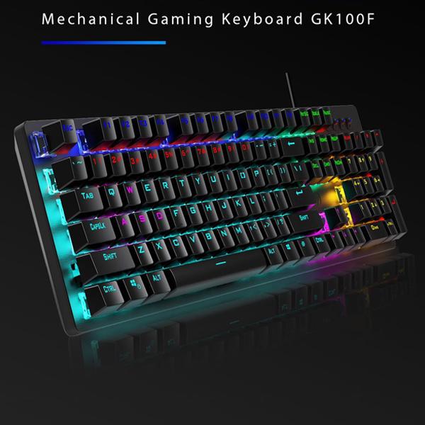 Keyboard USB Gaming/RGB Mechanical (Blue Switch) HP GK100F