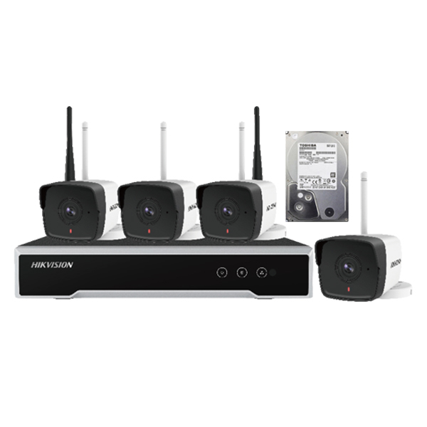 KIT HIKVISION NK42W0 04ch IP/Wifi 2.0Mpx (Free HDD 1000Gb)