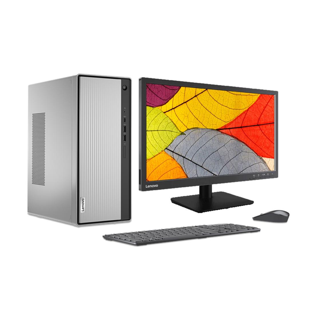 LENOVO IdeaCentre 5i Core i5-10400 2.9Ghz Tubor 4.3Ghz RAM DDR4 8Gb M.2 NVME 250Gb+HDD 1000Gb DVD Wifi Monitor 19.5