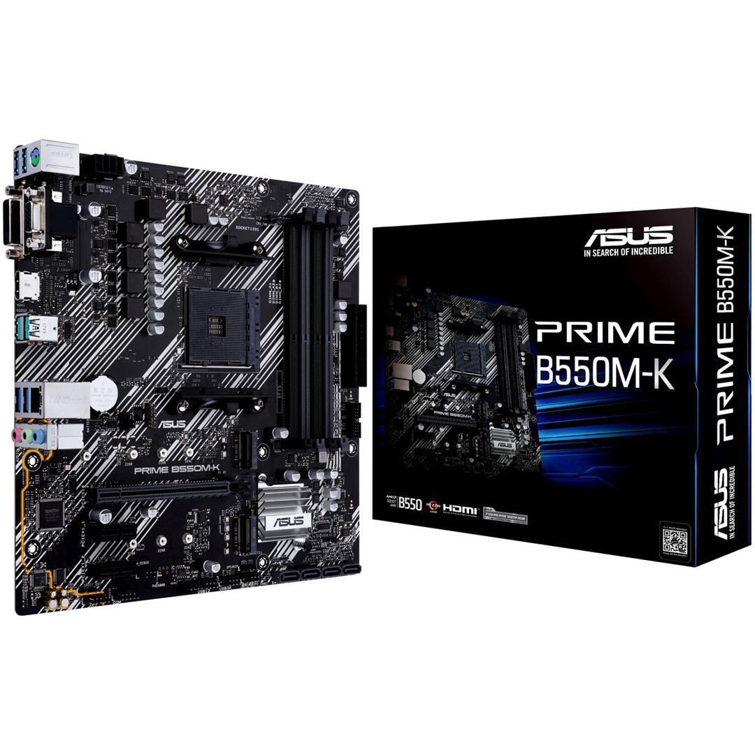 Mainboard ASUS PRIME B550M-K AMD AM4 DDR4*4 support NVME