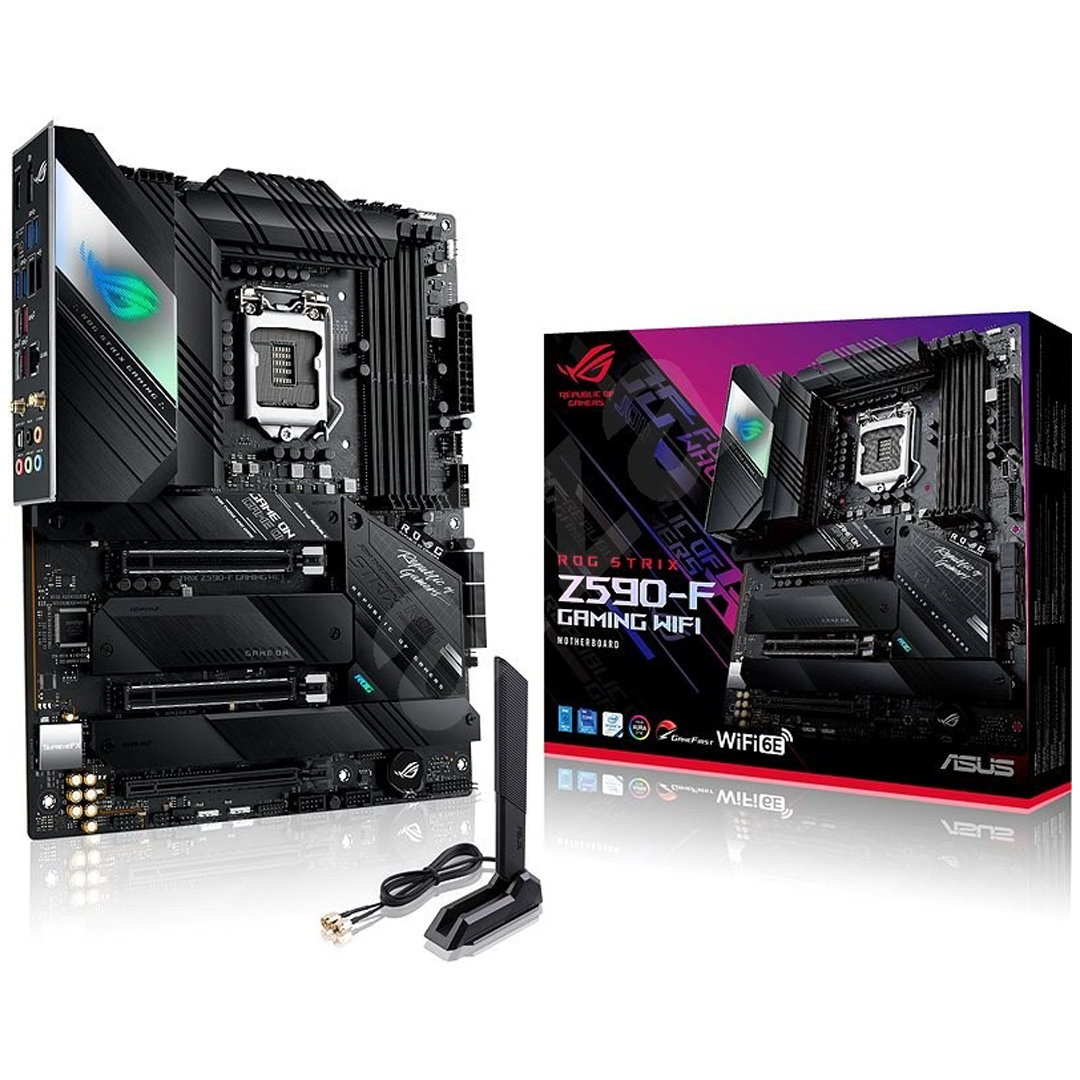 Mainboard ASUS ROG STRIX Z590-F GAMING WIFI LGA1200 DDR4*4 support NVME