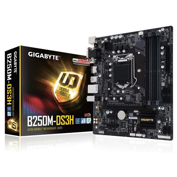 Mainboard GIGABYTE B250M DS3H LGA1151v1 DDR4*4 support NVME