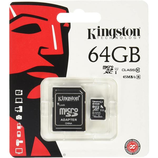 Memory Micro SD 64Gb Class10 Kingston