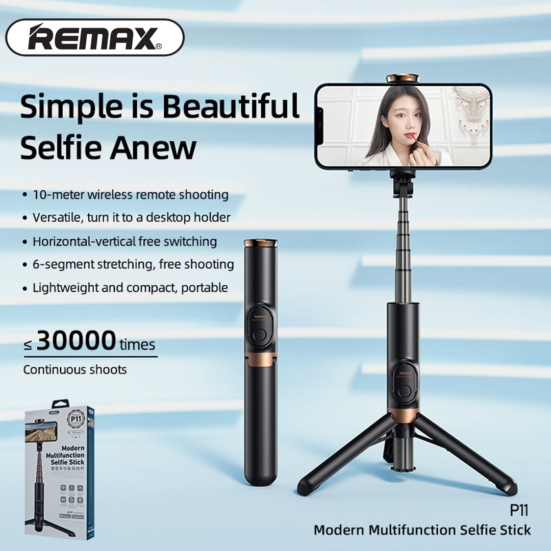 Modern Multifunction Selfie Stick REMAX P11