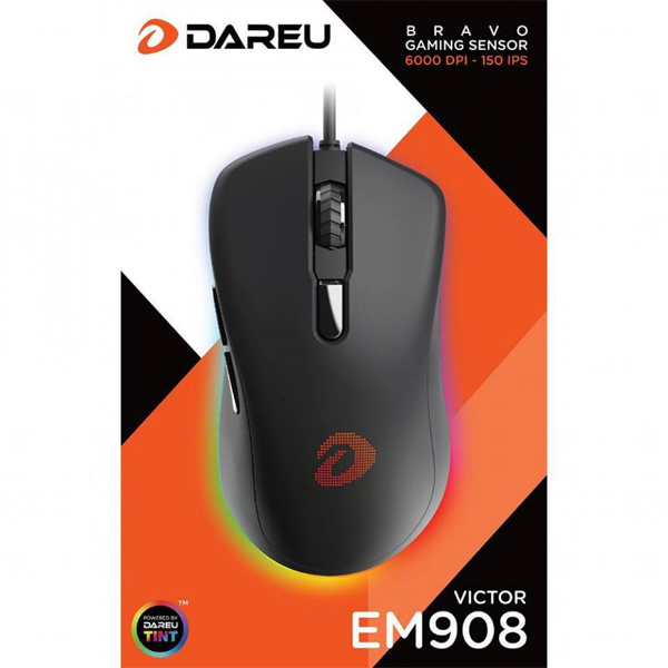 Mouse USB Backlit Gaming DAREU EM908