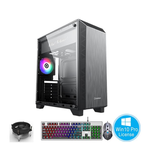 PC-Case Gaming-Design AMD Ryzen 3 1200 3.1Ghz Tubor 3.4Ghz 4cores-4threads Mainboard A320 RAM DDR4 8Gb SSD 120Gb HDD500Gb PSU 450W KB-Mouse No Monitor