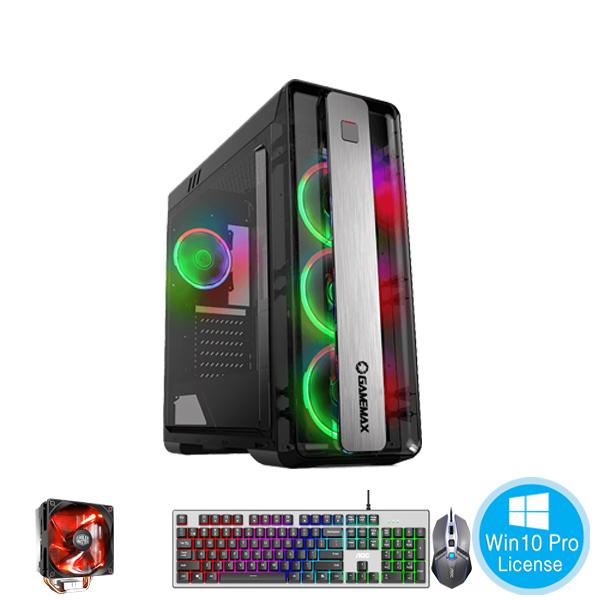 PC-Case Gaming-Design AMD Ryzen 5 3500 3.6Ghz Tubor 4.1Ghz 6cores-6threads Mainboard B450 RAM DDR4 8Gb M.2 NVME 250Gb HDD1000Gb PSU 500W KB-Mouse No Monitor
