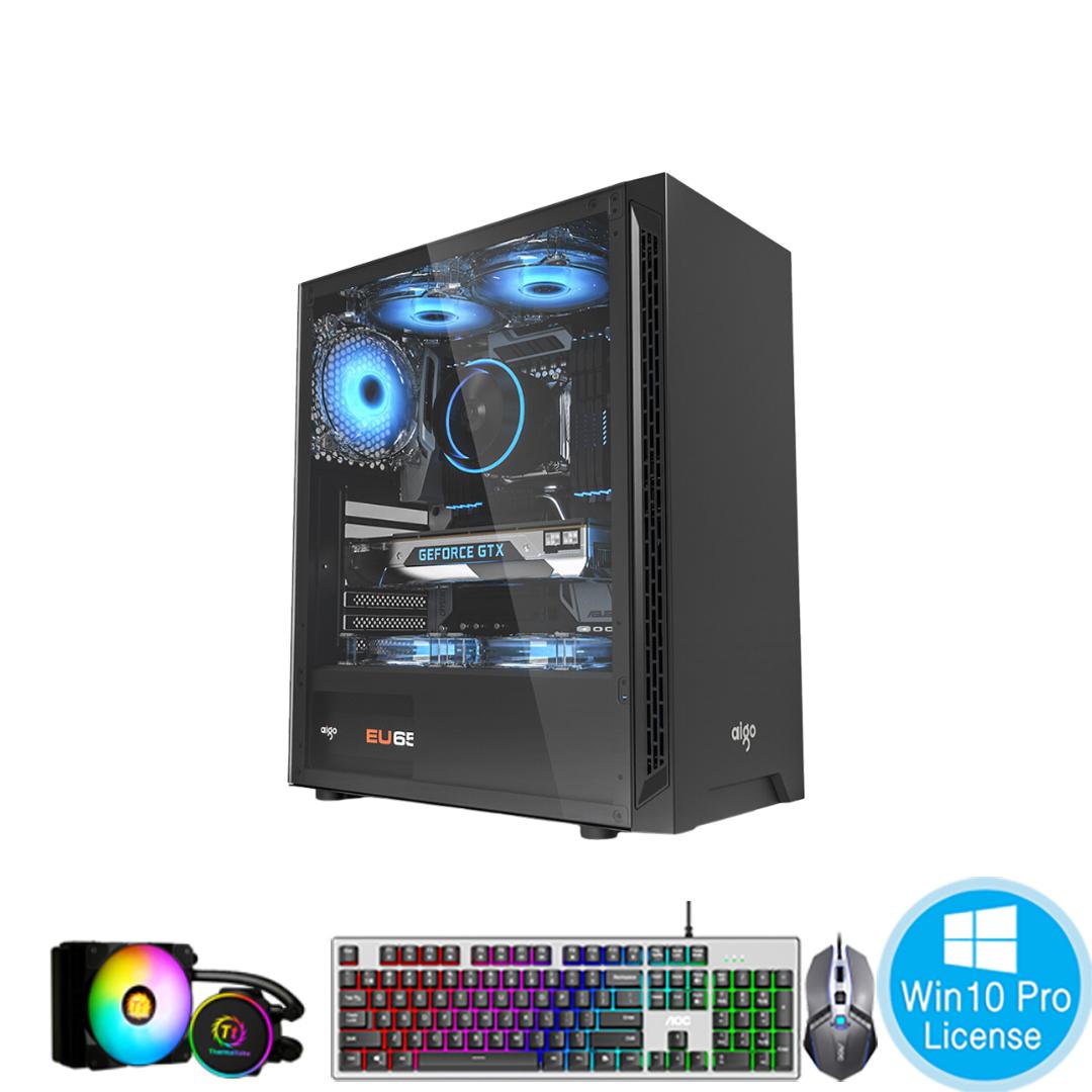 PC-Case Gaming-Design AMD Ryzen 5 3600 3.6Ghz Tubor 4.2Ghz 6cores-12threads Mainboard B450 RAM DDR4 16Gb M.2 NVME 250Gb HDD1000Gb PSU 700W KB-Mouse No Monitor