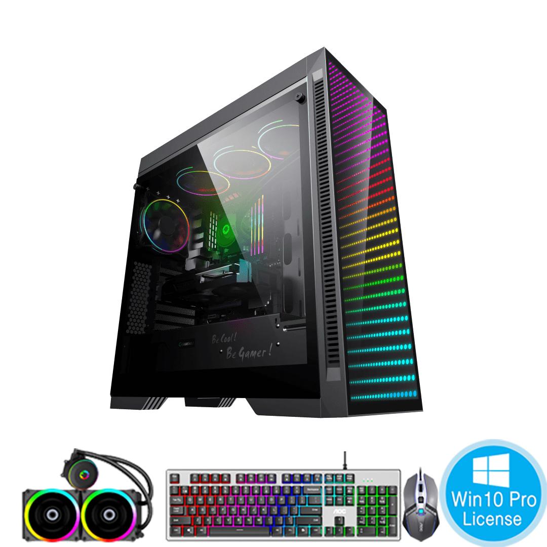 PC-Case Gaming-Design AMD Ryzen 7 5800X 3.8Ghz Tubor 4.7Ghz 8cores-16threads Mainboard X570 RAM DDR4 32Gb M.2 NVME 500Gb HDD1000Gb PSU 850W KB-Mouse No Monitor