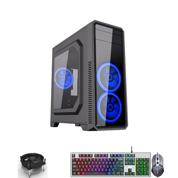 PC-Case Gaming/Design Intel® Core™ i5-6500 3.4Ghz(Tubor 3.8Ghz) 4cores-4threads | Mainboard H110 | RAM DDR4 8Gb | SSD 120Gb + HDD1000Gb | PSU 450W | KB&Mouse | No Monitor