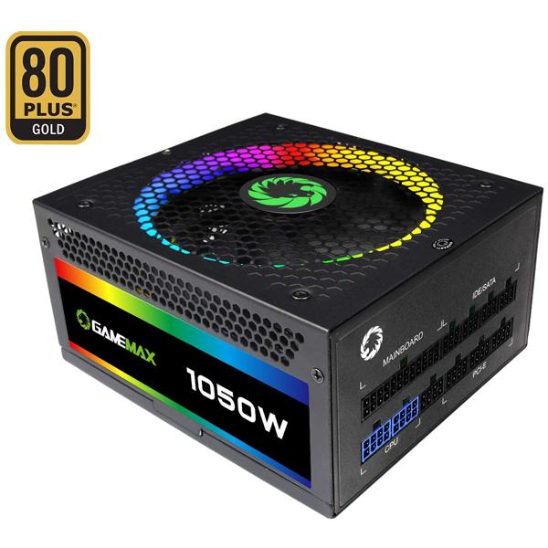 PSU 1050W GameMax RGB1050 / 80+ Gold, Full-Modular