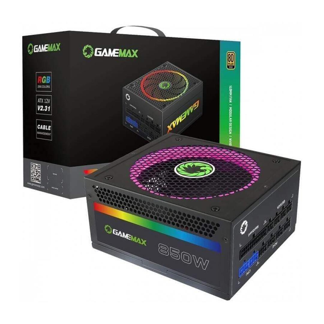 PSU 850W GameMax RGB850 / 80+ Gold, Full-Modular