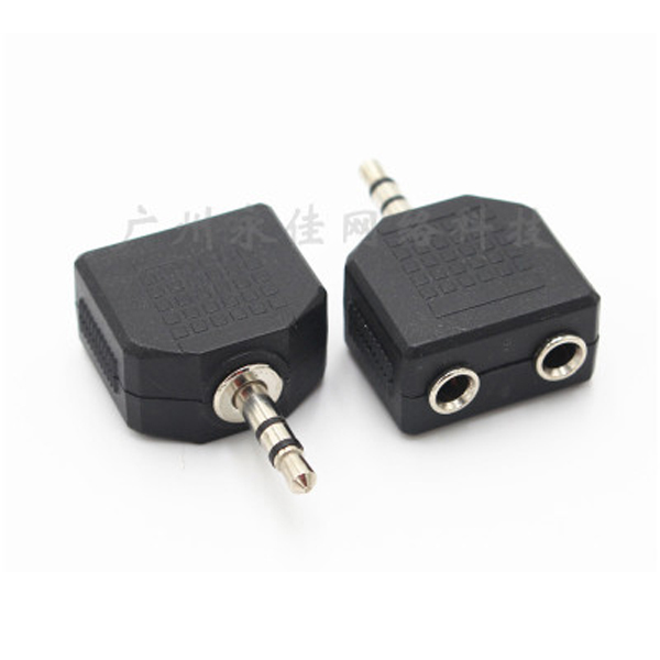 Plug 3.5mm/4pole AUX 1Male to 2Female