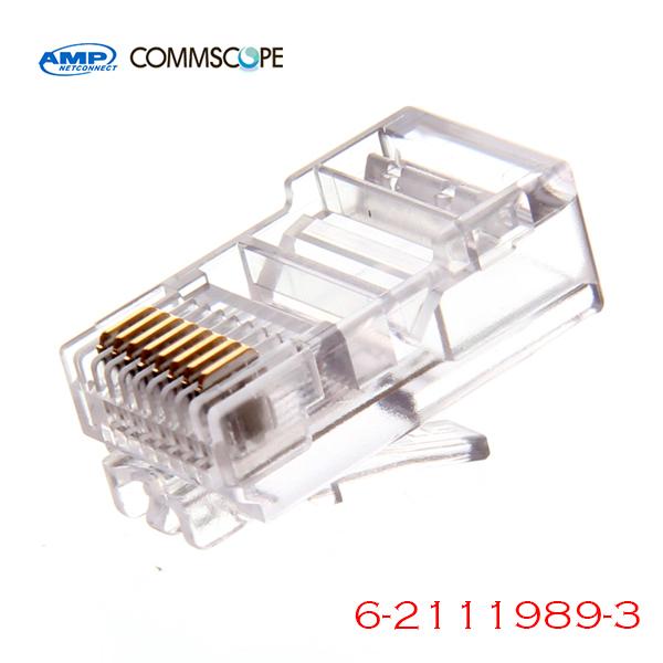 Plug RJ45 CAT6 AMP 6-2111989-3 (ອັນ 1 / 1 cái)