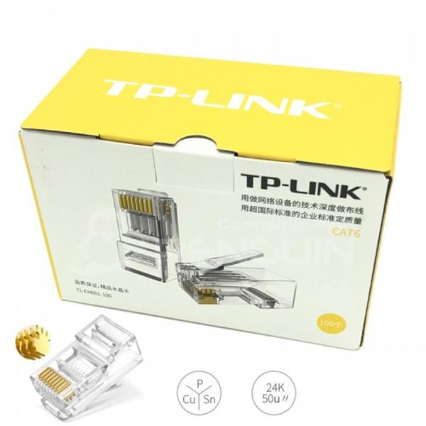 Plug RJ45 Cat6E TP-Link TL-EH601 (Box 100 / ເປັນຢາງ