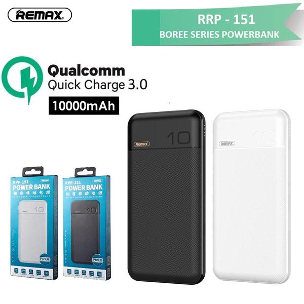 Power Bank 10.000mAh REMAX RPP-151 (PD, QC3.0)