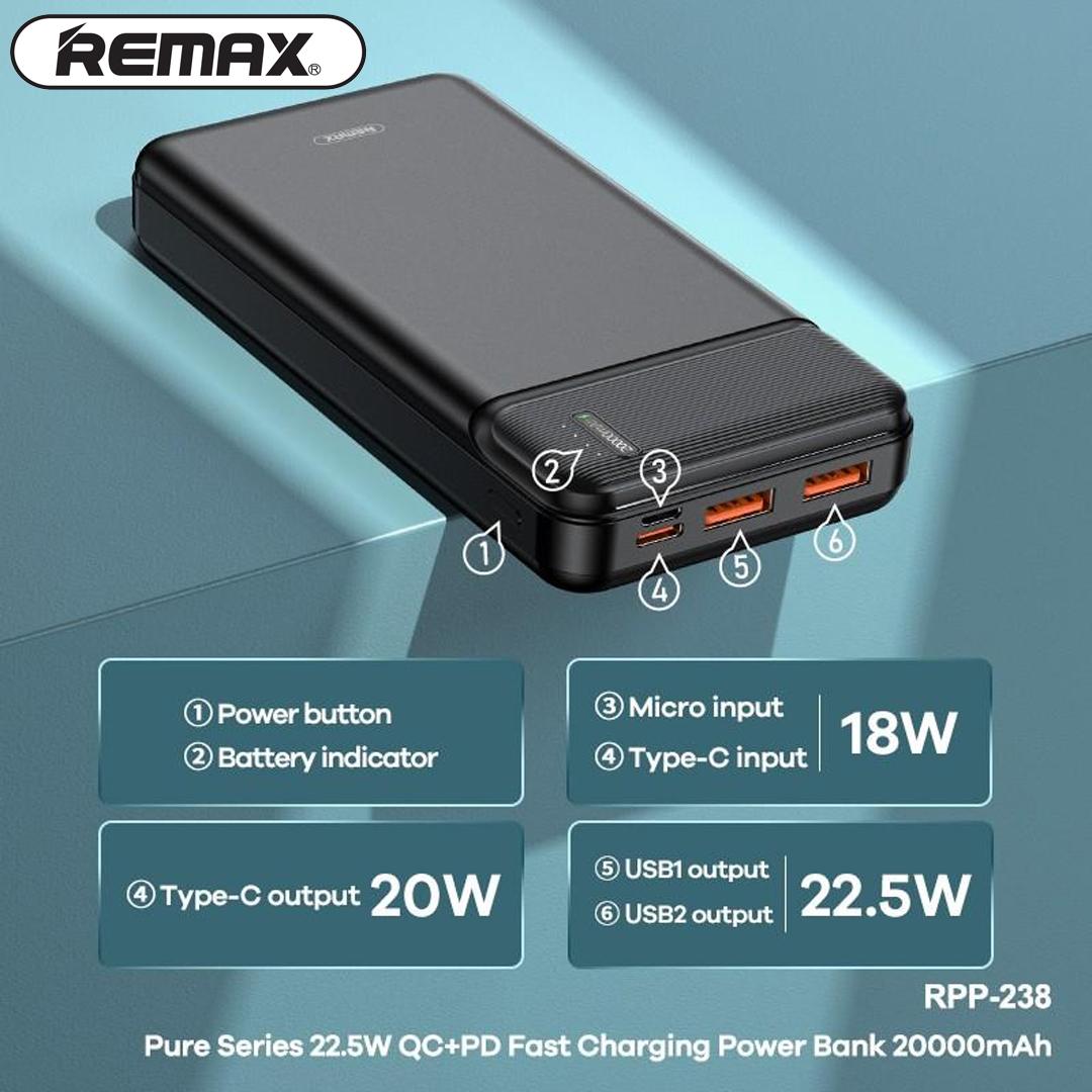 Power Bank 20.000mAh REMAX RPP-238 (PD, QC)