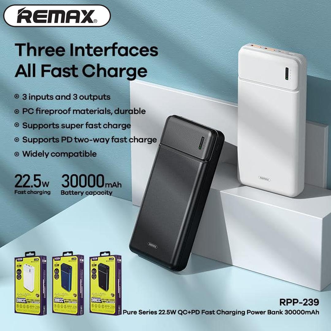 Power Bank 30.000mAh REMAX RPP-239 (PD, QC)