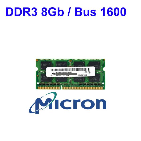 RAM DDR3 8Gb Notebook (Bus 1600) Micron