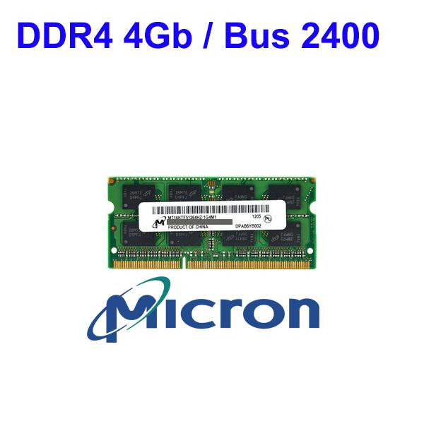 RAM DDR4 4Gb Notebook (Bus 2400) Micron