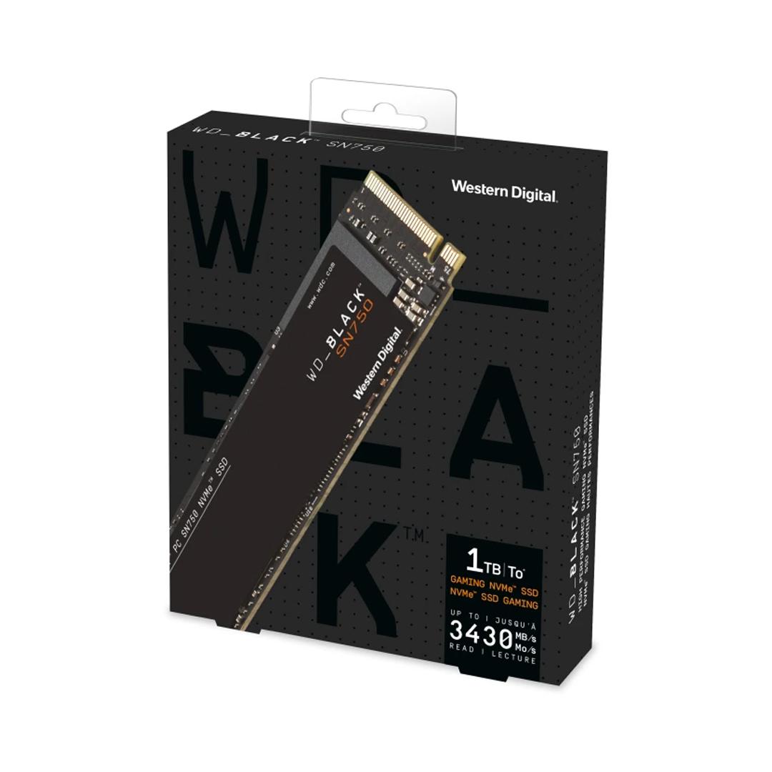 SSD 1Tb M.2 NVME PCIe Gen3 x4 WD Black SN750