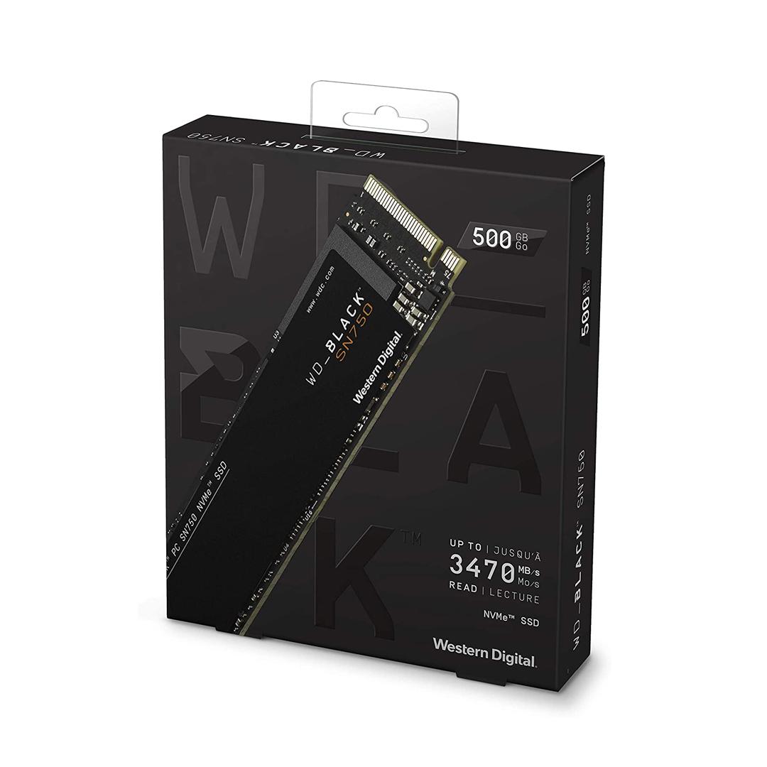 SSD 500Gb M.2 NVME PCIe Gen3 x4 WD Black SN750